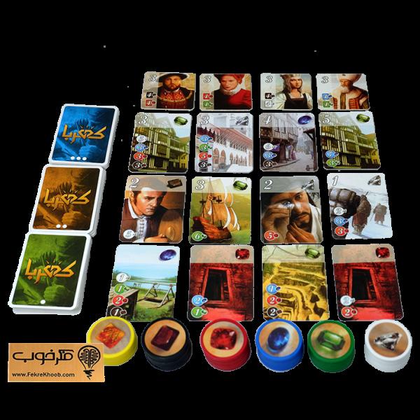 بازی فکری کهربا (اسپلندور) - فکرخوب - خانوادگی - استرتژیک - 2تا4 نفره - (Splendor)